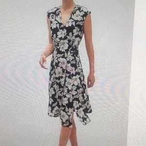 NWT - BR Factory floral print midi wrap dress